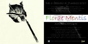Volantino mostra Florae mentis